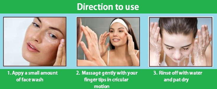 Direction to use ayurvedic face wash