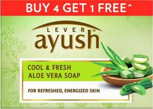 Lever Ayush Cool & Fresh Aloe Vera Soap