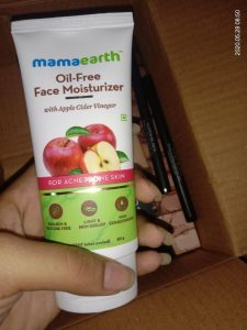 mamaearth oil free moisturizer review